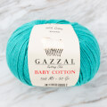 Gazzal Baby Cotton Knitting Yarn, Turquoise - 3426
