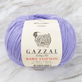Gazzal Baby Cotton Knitting Yarn, Lilac - 3420