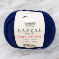 Gazzal Baby Cotton Knitting Yarn, Dark Blue - 3438