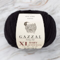 Gazzal Baby Cotton XL Baby Yarn, Black - 3433XL