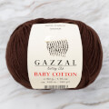 Gazzal Baby Cotton Knitting Yarn, Brown - 3436