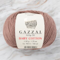 Gazzal Baby Cotton Knitting Yarn, Light Brown - 3434