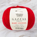Gazzal Baby Cotton Knitting Yarn, Red Dragon - 3439