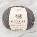 Gazzal Baby Cotton Baby Yarn, Smoked Grey - 3450