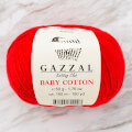 Gazzal Baby Cotton Baby Yarn, Red - 3443