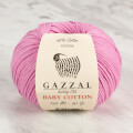 Gazzal Baby Cotton Knitting Yarn, Pink - 3422