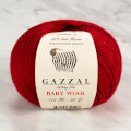 Gazzal Baby Wool Knitting Yarn, Claret - 816