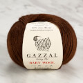 Gazzal Baby Wool Knitting Yarn, Brown - 807