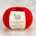 Gazzal Baby Wool Knitting Yarn, Red - 811