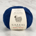 Gazzal Baby Wool Knitting Yarn, Navy Blue - 802