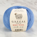 Gazzal Baby Wool Knitting Yarn, Blue - 813
