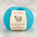 Gazzal Baby Wool Knitting Yarn, Blue - 820