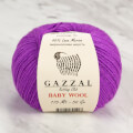 Gazzal Baby Wool Knitting Yarn, Purple - 815