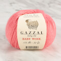 Gazzal Baby Wool Knitting Yarn, Pink - 828