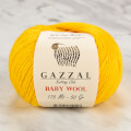 Gazzal Baby Wool Knitting Yarn, Yellow - 812