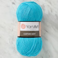 YarnArt Cotton Soft Knitting Yarn, Sky Blue - 33