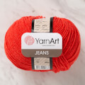 YarnArt Jeans Knitting Yarn, Red - 26