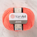 YarnArt Jeans Knitting Yarn, Coral Color - 61