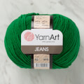 YarnArt Jeans Knitting Yarn, Green - 52