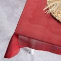La Mia 50cm x 1m Kırmızı Jüt Kumaş - J19
