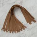 Loren 10 adet 50 Cm Açık Kahverengi Gizli Dipli Naylon Fermuar