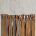 Loren 10 adet 35 Cm Açık Kahverengi Separe Kemik Fermuar