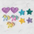 Kartopu Ponny ve Yıldızlı Dekoratif Düğme - 4702