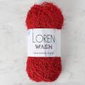 Loren Wash Kırmızı El Örgü İpi - R003