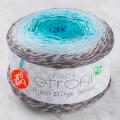 Etrofil Puzzle Cake Yarn, Grey-Turquoise-Green - PZ004