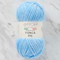 Etrofil Yonca Boncuk Mavi Kadife Bebek Yünü - 70518