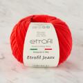 Etrofil Jeans Kırmızı El Örgü İpi - 036
