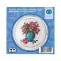RTO Baltic 5.5 cm Embroidery Kit with Magnet Frame, Flowers in Vazo - MGH06