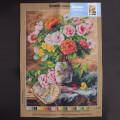 Orchidea 50x70cm Printed Gobelin, Pierre Garnier Vase of Flowers and a Fan - 2725R