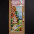 ORCHİDEA 19x50 cm Dere kenarındaki Ev Baskılı Goblen H15J