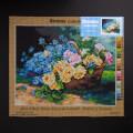 Orchidea 40x50cm Printed Gobelin, Albert Tibule Furcy de Lavault - Basket of Flowers - 2746M