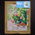 Orchidea 30x40cm Printed Gobelin, William T.Such - Still Life with Roses and Strawberries - 2854J