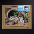 ORCHİDEA 30 x 40 cm Üç kedi Baskılı Goblen 2884J