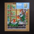 ORCHİDEA 30 x 40 cm Camda Yılbaşını Bekleyen Kuşlar Baskılı Goblen 2978J
