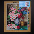 Orchidea 40x50cm Printed Gobelin, Max Albert Carlier - Still Life with Garden Flowers - 2985M