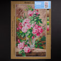 Orchidea 40x70cm Printed Gobelin, Still Life of Pink Roses in a Glass Vase - 2981R