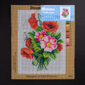 ORCHİDEA 30 x 40 cm Çiçek Buketi Baskılı Goblen 3008J