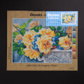 ORCHİDEA 30 x 40 cm Sarı Güller Baskılı Goblen 2997J