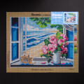 Orchidea 40x50cm Printed Gobelin, Window with Sea View - 3028M