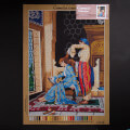 Orchidea 50x70cm Printed Gobelin, Osman Hamdi Bey - The Lady Who Has Her Hair Combed - C123R
