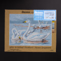 ORCHİDEA 30 x 40 cm Kuğular Baskılı Goblen 3056J