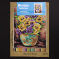Orchidea 24x30cm Printed Gobelin, Bouquet of Pansies - 2403H