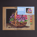 Orchidea 24x30cm Printed Gobelin, Basket of Violets - 2311H