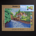 Orchidea 30x40cm Printed Gobelin, Landscape with Watermill - 1872J