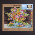 Orchidea 40x50cm Printed Gobelin, Pansies and Lilies in a Blue Vase - 2384M