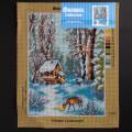 ORCHİDEA 30 x 40 cm Kış Manzarası Baskılı Goblen 2356J